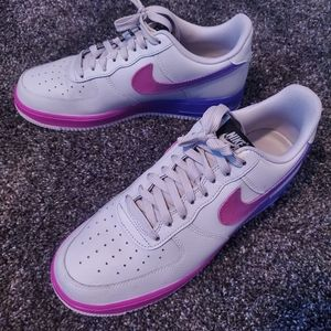 Purple and white Mens 9.5 Air Force ones